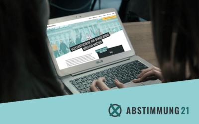 Fulminanter Start: das Themenvoting für die ABSTIMMUNG21 beginnt!